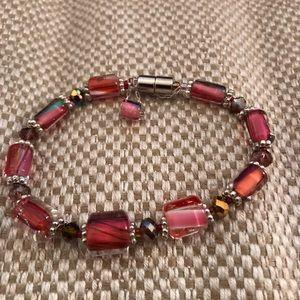 Jewelry - Glass bead custom art bracelet